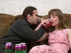 Ivan and Nelly are enjoying wine coolers that are made specifically to receive a whore drunk and the chick drinks down as much as that dude gives her. The greater amount this chab pours the greater amount that chick drinks and when this chab peels a banana for her to eat this chick can't aid but oblige his naughty desires. When a chick chews a phallic fruit in such a lusty manner it's bound to receive a dude all lustful and aroused. A little greater amount liquor and this guy's willing to make his move with this hot slut. That Babe gives him head and then this dude pounds her fur pie missionary and doggy style. It's great drunk hardcore sex for sure