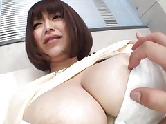 She's gorgeous busty and likes giving her big boobs for a good suck. Marie loves the attention she receives and she merits a lot more then some nipp sucking. See 'em and as things get hotter. Maybe this Japanese bitch will end up with semen all over her breasts