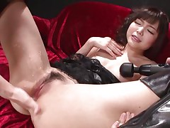 This innocent looking fur pie named Megumi is a fucking whore. She was laying on that sofa burning with lust when I came and start playing with her holes. Megumi offered her gazoo and enjoyed what I did to it. Using some sex toy I glad this bitch and stuffed her rectal hole and that juicy and juicy pussy.