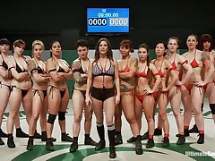A lot of sluts and every of one wants to win! Well, it will be a very lengthy and hard match but it worth seeing it. These strumpets are sexy and merciless, soon the game starts and things receive intense. Should we start betting one who will win and what the losers will have to receive through?