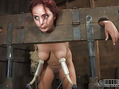 Ashley Graham is tied up in shackles with a milking machine attached to her huge breasts. This babe a impure slut and these studs castigate her with humiliating tasks. She's tied to her chair so you can get a better look at her huge melons.