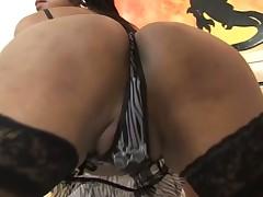Sexy t-girl bonks like hell & milks her partner absolutely dry