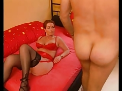 Busty Redhead German Mature Fucked