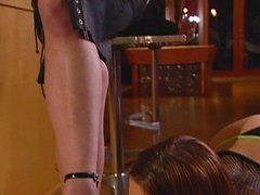 Hot mistress educates her hawt pupil