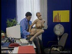 Hot Brunette Secretary Fucks Her Boss In The Office