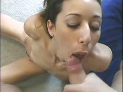 Teenybopper oral stimulation and messy facial