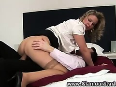 Chic euro clothed fetish blonde