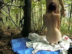 Bulgarian girld fucked outdoor