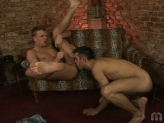 2 gay boys do some ass licking and fingering