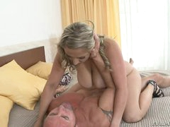 Krystal Swift rides her moist snatch on a thick dong