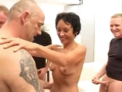 Slim aged anal hardcore and facial