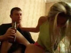 Drunk little girl screwed by crazy brother
