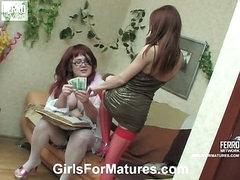 Emma&Alice mature lesbo video