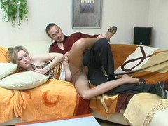 Extremely hawt chick in expensive hose getting her brains screwed out