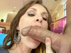 Luxurious oiled gal plays with weenie in advance of feeling it in cunt