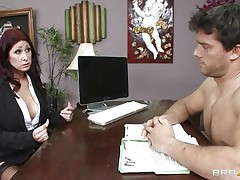 This hot brunette MILF cannot stop herself from reacting to the young chap sitting across from him. therefore, that babe moves in for the kill and soon sufficiently that babe has him exactly where that babe wants. Unable to stop himself. Once that babe have her, he will do anything that that babe wants him to do and then some.