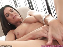 No thing compares with a hot mommy that has lengthy dark hair, cute tits, hot lengthy legs and a wide cum asking mouth. This horny mom gets down on her knees and quickly begins to suck that large hard dick, deepthroating it like an experienced lady. Will she receive some sex cream on her lengthy dark hair or in her hot mouth?