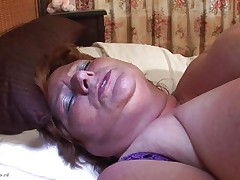 Brigit is one of these massive granny women that could swallow a sextoy like a candy bar. This playgirl is masturbating and inserts that sex toy in her vagina all the way in making sure that playgirl has it inside. Her fat cunt receives it with no problems and now that playgirl can have a fun herself. This playgirl is massive but her sex drive is even bigger then her.