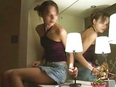 Oral-service sex and table banging