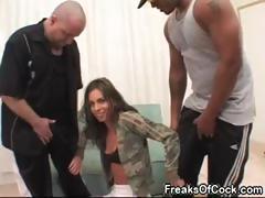 Sexy pornstar Naomi Russell likes big dark dicks and huge dildos