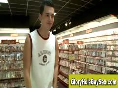 Homosexual straight gloryhole blow job job