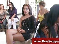 CFNM bodybuilder stripper at party