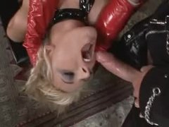 Perverted latex three-some with fantastic doxies